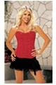 Peeble Charmeuse Strapless Corset - Red 34