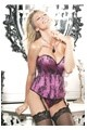 Beautiful Floral Tapestry & Spandex Corset - Htpnk 34