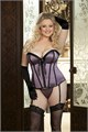 Pleated Ribbon & Satin Corset - Vio-42