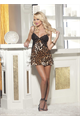 Animal Knit Chemise Leopard L