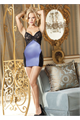 Shiny Lycra And Stretch Lace Chemise Periwinkle S